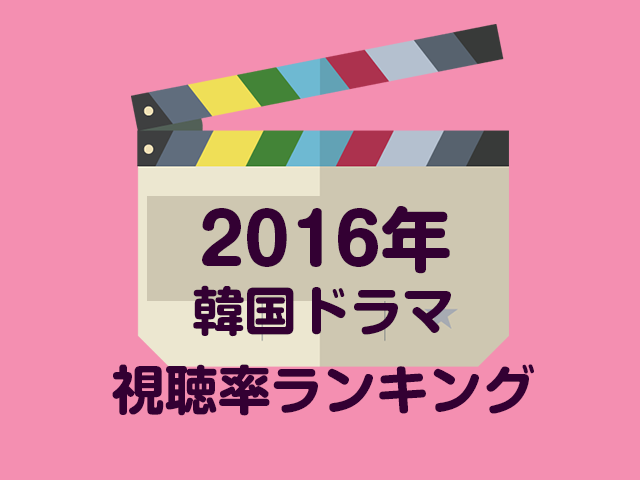 2016年韓国ドラマ視聴率ランキング