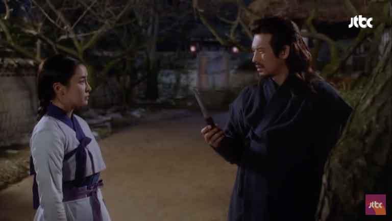 イニョプの道7話あらすじ。ムミョンに刀の使い方を教わるイニョプ