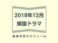 2018年12月放送の韓国ドラマとおすすめを一覧でご紹介